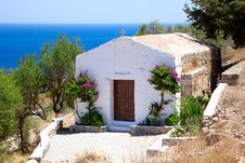 Free White Small Chapel In Lindos.Rhodes Islan Stock Image - 20935791