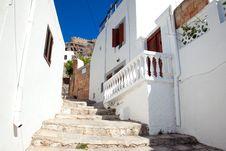 Free Narrow Street In Lindos.Rhodes Island Royalty Free Stock Photos - 20935828
