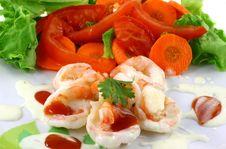 Free Salad Shrimp Stock Photo - 20936120
