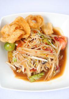 Free Thai Papaya Salad Hot And Spicy Royalty Free Stock Images - 20936149