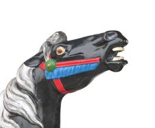 Horse Head From A Carrousel Horse Isolated Stock Photo