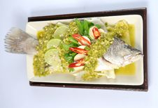 Free Spicy Steamed Fish Stock Photo - 20936170