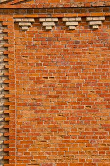 Red Bricks Old Wall Background Stock Photos