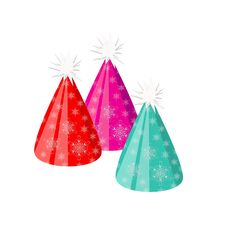 Colorful Party And Celebration Hats Stock Images
