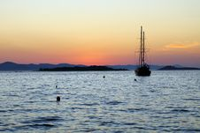 Free Sunset On An Island In Croatia, Royalty Free Stock Photos - 20937368