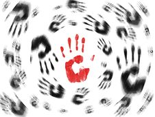 Hand Prints Background Royalty Free Stock Photos
