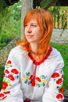Ukrainian Girl In National Clothes Royalty Free Stock Photography