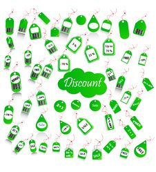 Set Of Discount And Price Tags Royalty Free Stock Image