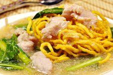 Free Crisp Noodle In Creamy Sauce Stock Image - 20938611
