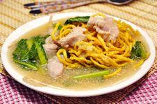 Free Crisp Noodle In Creamy Sauce Stock Image - 20938631