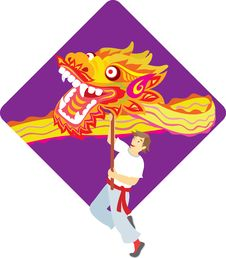 Free Dragon Dancing Show Royalty Free Stock Photo - 20938975
