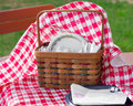 Free Picnic Utensil Basket Royalty Free Stock Photography - 20946537