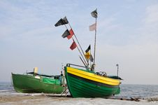 Free Old, Green, Fishing, Boats, Royalty Free Stock Photo - 20940375