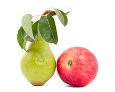 Free Pear And Apple Royalty Free Stock Image - 20940456