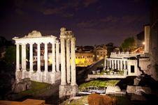 Free Roman Ruins At Night Stock Images - 20941254