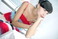 Free Thinking Girl Sitting Stock Image - 20941311