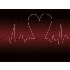Heart Beats-ekg Stock Image