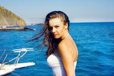 Free Beautiful Girl Near Yacht Royalty Free Stock Photos - 20941758