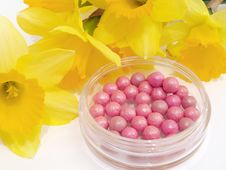 Free Pink Blush And Flowers Royalty Free Stock Photography - 20941997