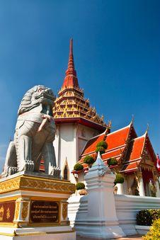Free Singha Statue And Buddhist Church Stock Photos - 20942013