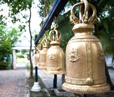 Free Bell In Buddisht Temple Stock Photography - 20942022