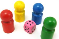 Free Toy Figures And Dice Stock Images - 20942404