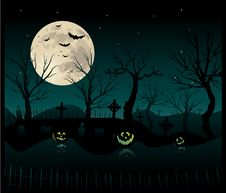 Free Halloween Cemetery Background Royalty Free Stock Image - 20943286