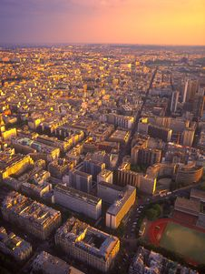 Free View On Paris From The Eiffel Tower. Stock Photos - 20943683
