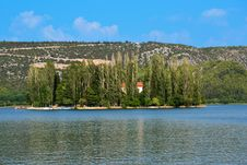 Free Visovac Monastery On The Island In The Krka Royalty Free Stock Images - 20943869