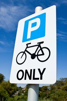 Free Cycle Parking Only Sign Royalty Free Stock Photos - 20944468