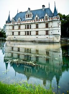 Free Azay Le Rideau Castle Reflected In The Water Stock Photo - 20945670