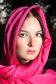 Free Woman In Red Scarf Royalty Free Stock Photo - 20945985