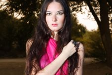 Free Woman In Red Scarf Royalty Free Stock Image - 20945986