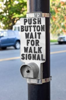 Free Walk Signal Button Stock Image - 20946531
