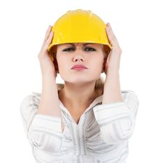 Free Girl With Hard Hat Royalty Free Stock Photo - 20946815