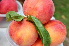 Flour Peaches Royalty Free Stock Photos