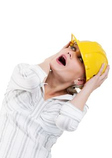 Free Girl With Hard Hat Royalty Free Stock Photography - 20947067