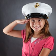 Free Little Girl Saluting Royalty Free Stock Images - 20947299