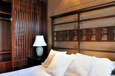 Oriental Style Bedroom Royalty Free Stock Images