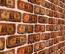 Free Wall With Dollar Stock Image - 20947481