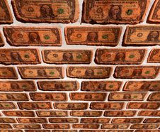 Free Wall With Dollar Stock Photos - 20947553