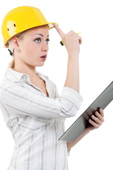 Free Girl With Hard Hat Royalty Free Stock Photo - 20947615