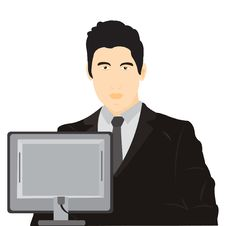 Free Illustration Men For Computer Stock Image - 20947641