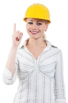 Free Girl With Hard Hat Stock Photo - 20947670