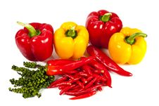 Free Mix Chili And Pepper Royalty Free Stock Photos - 20947788