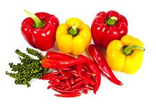 Free Mix Chili And Pepper Royalty Free Stock Image - 20947806