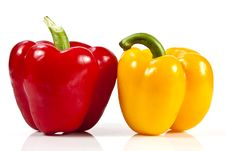 Free Red And Yellow Bell Pepper Royalty Free Stock Photos - 20947838