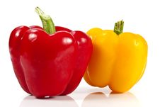 Free Red And Yellow Bell Pepper Royalty Free Stock Photos - 20947848