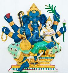 Free Hindu Ganesha God Named Uchchishta Ganapati Royalty Free Stock Photo - 20947875