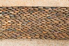 Free Close Up Of Circle Pebble Wall Stock Photography - 20947922